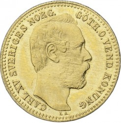 Mynt > 1carolin, 1868-1872 - Sverige  - obverse