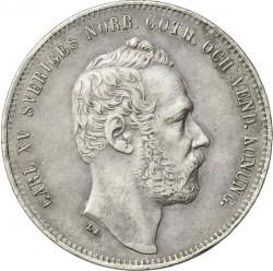 Pièce > 4riksdalerriksmynt, 1861-1870 - Suède  - obverse