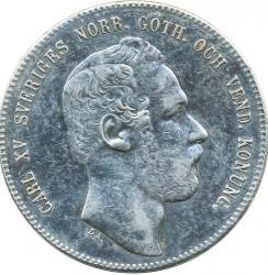 Monedă > 4riksdaleririksmynt, 1871 - Suedia  - obverse