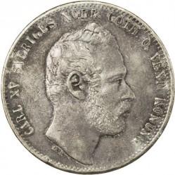 Pièce > 2riksdalerriksmynt, 1862-1871 - Suède  - obverse