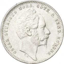 Münze > 1RiksdalerRiksmynt, 1857 - Schweden   - obverse