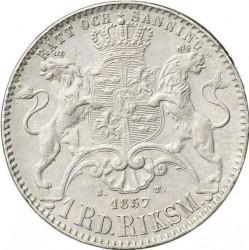 Münze > 1RiksdalerRiksmynt, 1857 - Schweden   - reverse