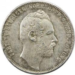 Монета > 1риксдалерриксмюнт, 1860-1871 - Швеция  - obverse