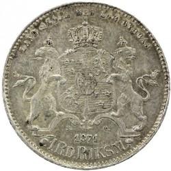 Монета > 1риксдалерриксмюнт, 1860-1871 - Швеция  - reverse