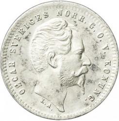 Mynt > 25ore, 1855-1859 - Sverige  - obverse