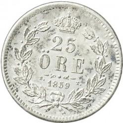 Mynt > 25ore, 1855-1859 - Sverige  - reverse