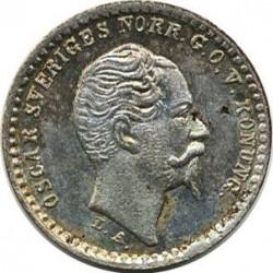 Mynt > 10ore, 1855-1859 - Sverige  - obverse