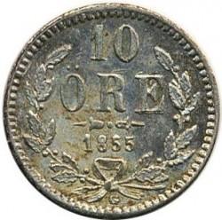 Mynt > 10ore, 1855-1859 - Sverige  - reverse