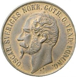 Monedă > 5ore, 1857-1858 - Suedia  - obverse