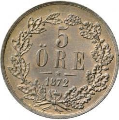 Münze > 5Öre, 1860-1872 - Schweden   - reverse