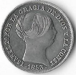 Moneda > 1real, 1852-1855 - Espanya  - obverse
