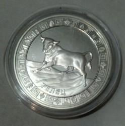 Moneta > 5dolarów, 2012 - Tokelau  (Znaki zodiaku - Byk) - reverse