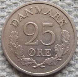 Coin > 25öre, 1960-1967 - Denmark  - obverse