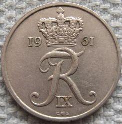 Coin > 25öre, 1960-1967 - Denmark  - reverse