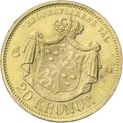 Münze > 20Kronen, 1873-1876 - Schweden   - reverse