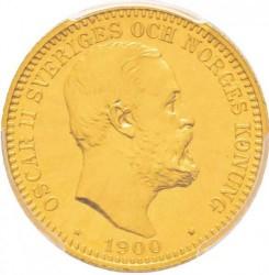 Münze > 20Kronen, 1900-1902 - Schweden   - obverse