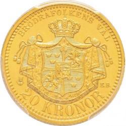 Münze > 20Kronen, 1900-1902 - Schweden   - reverse