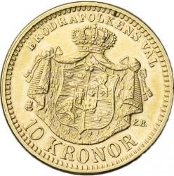 Münze > 10Kronen, 1901 - Schweden   - reverse