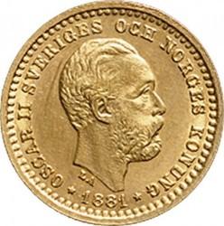 Münze > 5Kronen, 1881-1899 - Schweden   - obverse