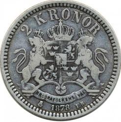 Münze > 2Kronen, 1878-1880 - Schweden   - reverse