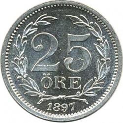 Pièce > 25ore, 1874-1905 - Suède  (Inscription de grande taille) - reverse