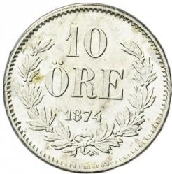 Pièce > 10ore, 1874-1876 - Suède  - reverse
