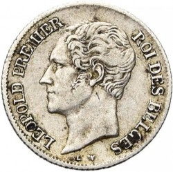 Mynt > ¼franc, 1849-1850 - Belgia  - obverse