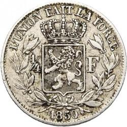 Mynt > ¼franc, 1849-1850 - Belgia  - reverse