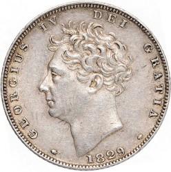Монета > 6пенсів, 1826-1829 - Велика Британія  - obverse