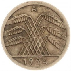Moneda > 50reichspfennig, 1924-1925 - Alemania  - reverse