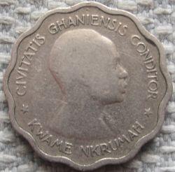 Кованица > 3пенија, 1958 - Гана  - obverse