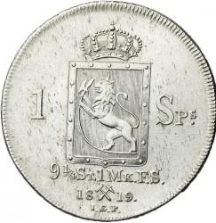 Монета > 1спесие-ригсдалер, 1819-1824 - Норвегия  - reverse