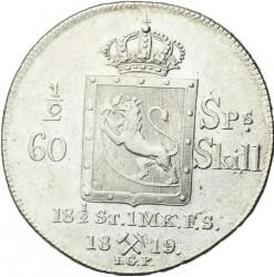 Moneta > ½speciedaler, 1819-1824 - Norwegia  - reverse