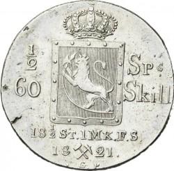 Монета > ½спесиедалер, 1819-1824 - Норвегия  - reverse