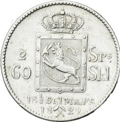 Moneda > ½speciedaler, 1827-1836 - Noruega  - reverse