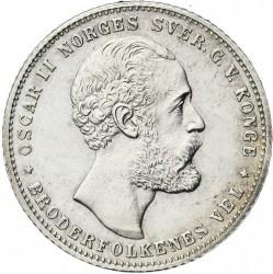 Moneda > ½speciedaler, 1873 - Noruega  - obverse