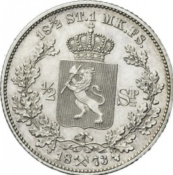 Moneda > ½speciedaler, 1873 - Noruega  - reverse