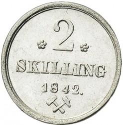 Moneda > 2skilling, 1842-1843 - Noruega  - reverse