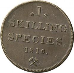 Moneda > 1skilling, 1816 - Noruega  - reverse