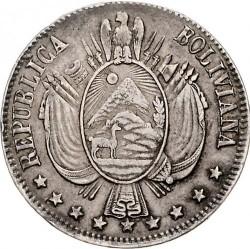 Moneta > 1bolivianas, 1864-1867 - Bolivija  - obverse