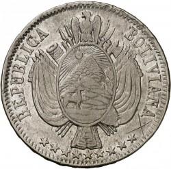 Mynt > 1boliviano, 1864-1867 - Bolivia  - obverse