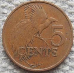 Moneta > 5centesimi, 1974-1976 - Trinidad e Tobago  - reverse