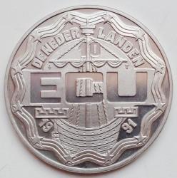 Monedă > 10ECU, 1991 - Regatul Țărilor de Jos  (Erasmus of Rotterdam) - obverse