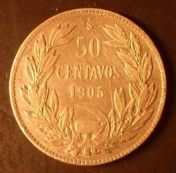 Coin > 50 centavos, 1902-1905 - Chile  - obverse