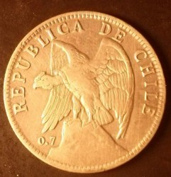 Coin > 50 centavos, 1902-1905 - Chile  - reverse