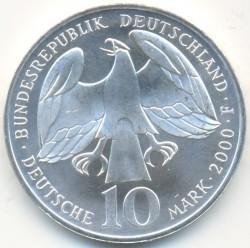 Moneda > 10marcos, 2000 - Alemania  (250avo Aniversario -De la muerte de Johann Sebastian Bach) - obverse