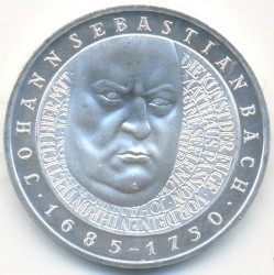 Moneda > 10marcos, 2000 - Alemania  (250avo Aniversario -De la muerte de Johann Sebastian Bach) - reverse