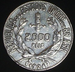 Moneda > 2000réis, 1924-1934 - Brasil  - obverse