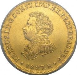 "Монета > 6400рейса, 1823-1828 - Бразилия  (Регионална отметка ""R"" - Рио де Жанейро) - obverse"