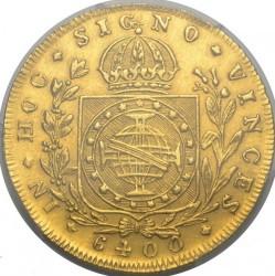 "Монета > 6400рейса, 1823-1828 - Бразилия  (Регионална отметка ""R"" - Рио де Жанейро) - reverse"